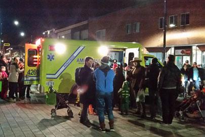 Ambulance UBF aux festivités d'Halloween à Victoriaville